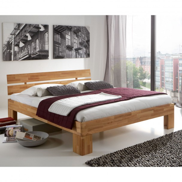 massivholzbett doppelbett holzbett futonbett kernbuche nano 180x200 neu ebay. Black Bedroom Furniture Sets. Home Design Ideas
